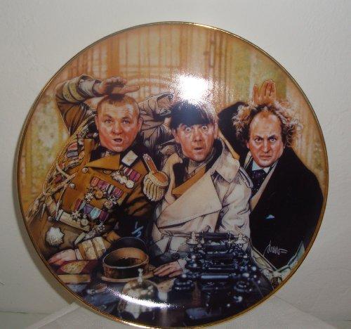 - Franklin Mint Three Stooges Porcelain Plate