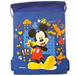Mickey Mouse and Friends Draw String Backpack Bag - Blue by Disney