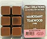 Mahogany Teakwood (Type) - Scented All Natural Soy Wax Melts - 6 Cube Clamshell 3.2oz Highly Scented!