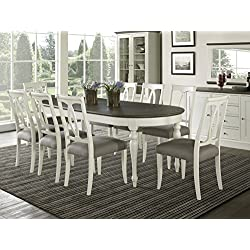 Coastlink Vegas 9 Piece Oval Extension Dining Table Set for 8 (Oval Back Chairs)
