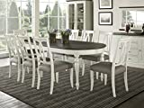Everhome Designs - Vegas 9 Piece Oval Extension Dining Table Set for 8 (Oval Back Chairs)