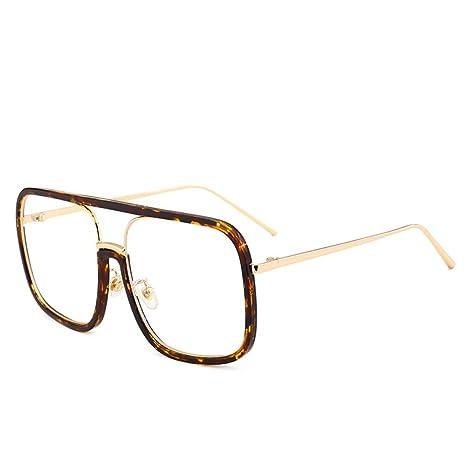 Yangjing-hl Gafas cuadradas Grandes Transparentes Gafas de ...