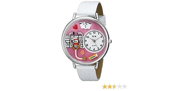 Amazon.com: Whimsical Watches Unisex US0620047 Nurse Analog Display Japanese Quartz White Watch: Watches