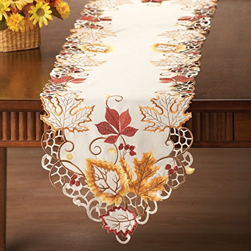 Harvest Maple Leaf Linens, Runner
