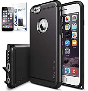 Ringke Max Double Layer Heavy Duty Shock Absorption Case & Ozone Screen Guard for Apple iPhone 6 Plus/6S Plus