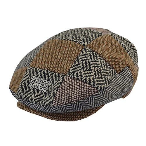 Patrick Francis Patchwork Tweed Flat Cap
