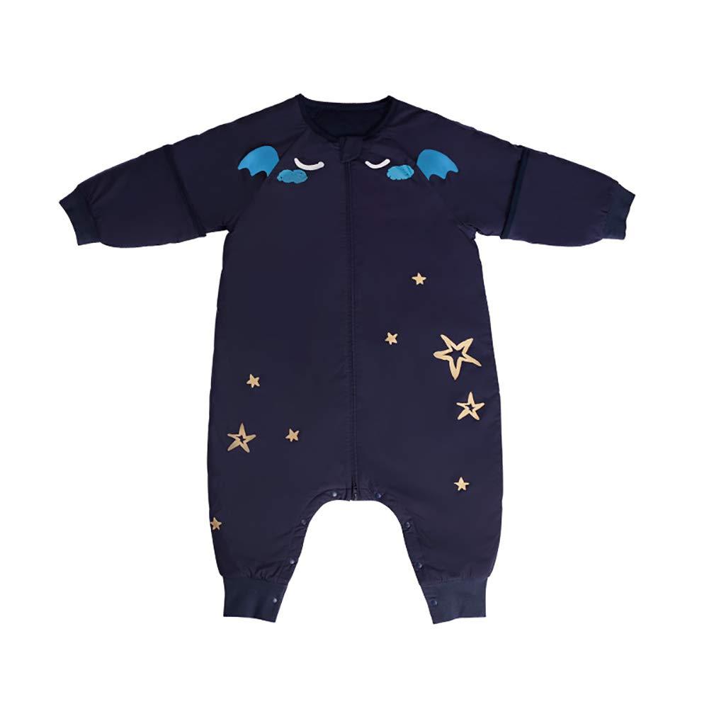 Blau Bebamour Baby Schlafsack 100/% Bio-Baumwolle Material Schlafsack f/ür 0-6 Jahre Kleinkinder Unisex Baby Wickeldecke mit Gr/ö/ße 75-95cm