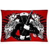 USMC Marine With Ka Bar And Skull Shroud Pillowcase,United States Marine Corps Pillowcase,One Side Pillowcase Pillow Cover 20x30 inches