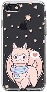 Kaidan iPhone 11 Pro Max 5 5s SE Pink Alpaca 6 6s 8 7 Plus Case Adorable Llama X XR XS Samsung Galaxy Note 10 Plus Animal A50 Stars Art Note 8 9 S10 S9 S8 + Google Pixel 4 3A 3 XL LG G8s Thinq SaO146