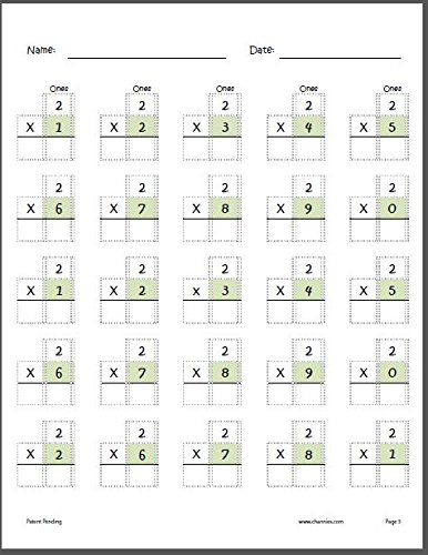 Channie's One Page A Day Single Digit (Beginner) Multiplication Practice Workbook for 2nd-3rd Grades Photo #5