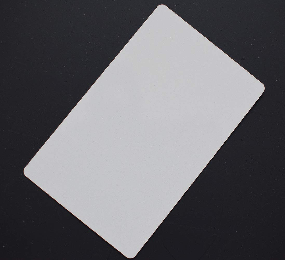 100pcs Sublimation Metal Business Cards Laser Engraved Metal Business Cards Sublimation Blanks 3.4x2.1in Thicknes (0.30mm) (White) by world-paper (Image #3)