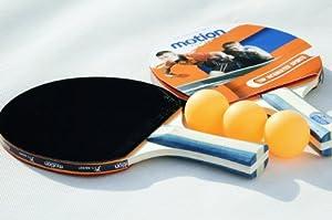 Motion-Partner zwei Tischtennisschläger / Ping Pong Schläger / Paddle für...