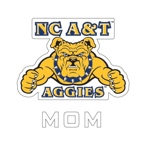 CollegeFanGear North Carolina A&T Mom Decal 'NC A&T Aggies'