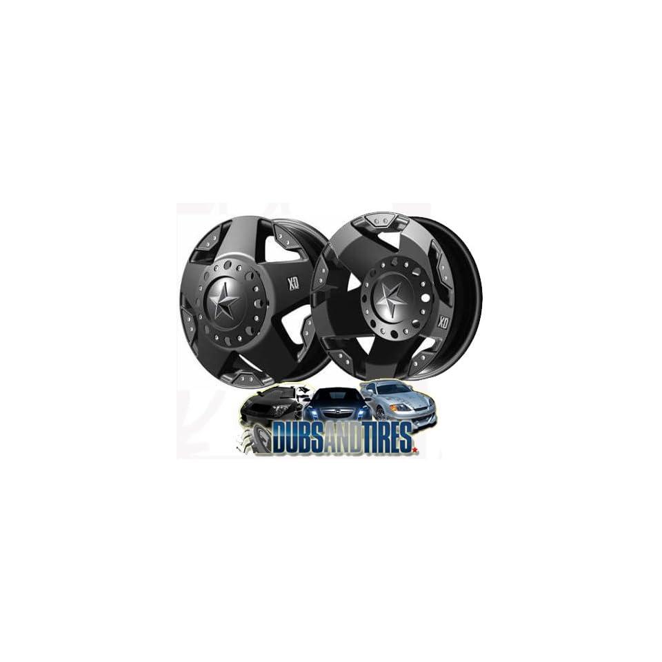 17 Inch 17x6 KMC XD SERIES wheels ROCKSTAR DUALLY Matte Black FRONT wheels rims