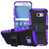 Galaxy A5 2017 Case, OEAGO Samsung Galaxy A5 2017 Case [Shockproof] [Impact Protection] Tough Rugged Dual Layer Protective Case with Kickstand for Samsung Galaxy A5 2017 - Purple