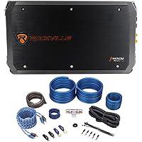 Package: Rockville RXA-T2 2400 Watt 2-Channel Amplifier + Rockville RWK41 Complete 4 Gauge 2 Channel Wire Kit With Rca Cables