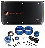 Rockville RXA-T2 2400 Watt Peak/1250w RMS 2-Channel Car Stereo Amplifier+Amp Kit