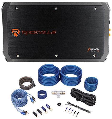 (Rockville RXA-T2 2400 Watt Peak/1250w RMS 2-Channel Car Stereo Amplifier+Amp)