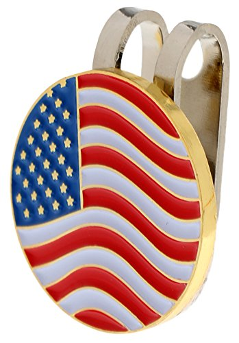 America Golf Balls (C-Pioneer America Flag Golf Ball Markers with Hat Clip)