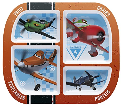 (Zak! Designs 4-section divided plate with Planes graphics from Disney, BPA-free)