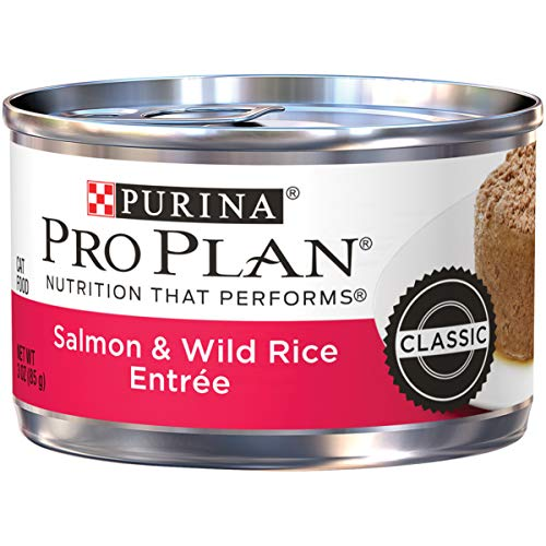 Purina Pro Plan Pate Wet Cat Food, Salmon & Wild Rice Entree - (24) 3 oz. Pull-Top Cans