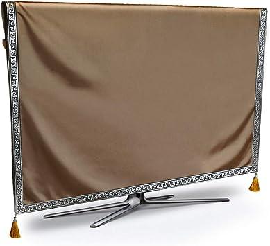 WJYX Cubierta de TV Cubierta de Polvo de TV Protección Resistente a la Intemperie Pura Protección a Prueba de Polvo LCD Led Plasma 22 Pulgadas marrón: Amazon.es: Electrónica