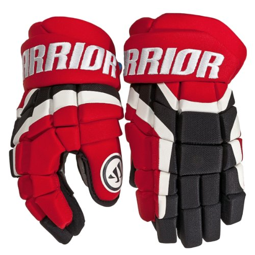 Warrior Senior Covert DT2 Hockey Glove, Red/Black/White, 14-Inch - Red Ice Hockey Gloves