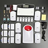 HITSAN LCD Wireless GSM Auto Dial For Home House Office Security Burglar Intruder Alarm One Piece
