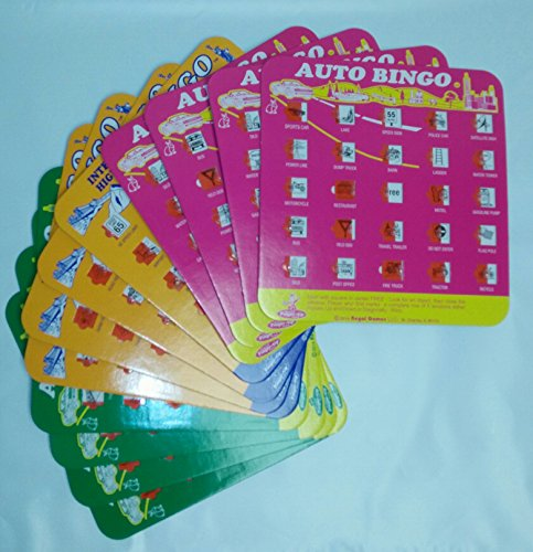 Backseat Bingo, Travel Bingo Game for Road trip, I Spy Game, set of 12 cards