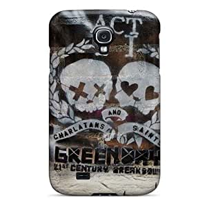 Shock Absorbent Hard Cell-phone Case For Samsung Galaxy S4 With Allow Personal Design High-definition Green Day Pictures ColtonMorrill