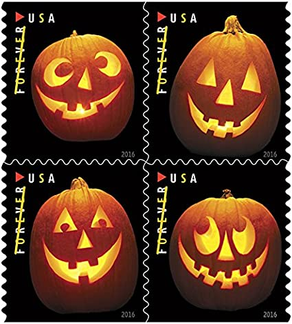 Halloween Stamps 2020 Amazon.com: Jack o Lanterns USPS Forever First Class Postage Stamp