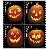 Jack o Lanterns USPS Forever First Class Postage Stamp U.S. Halloween Autumn Sheets ( 20 Pumpkin Stamps) (Book of 20)