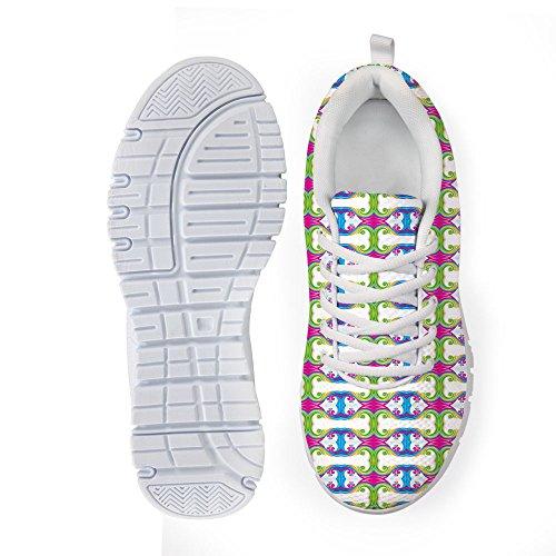 BEACH Shoes Walking Comfortable PZZ Fashion Printed Running Mesh 1 Casual Athletic Fashion Pattern vwApdpq1