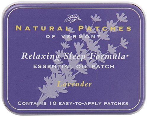 Naturopatch Of Vermont Aromatherapy Body Patches, All Natural Sleep Aid, Lavender, 10-Count Tin by Naturopatch Of Vermont -