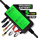12V Automatic Battery Maintainer Tender Trickle Charger Desulfator | .75 Amp 5 Stage