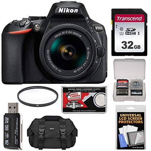 Nikon D5600 Digital SLR Camera & 18-55mm VR DX AF-P Lens with 32GB Card + Case Kit (Certified Refurbished) Review