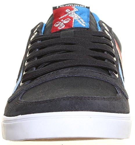 Hummel - Zapatillas de skateboarding de lona para hombre, color negro, talla 40.5