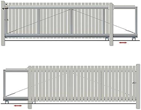 Bauer – Puerta corredera montar H=100, B=420, Sostiene, Plateado: Amazon.es: Bricolaje y herramientas