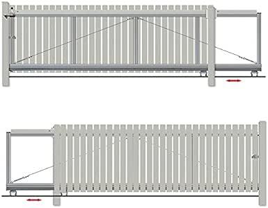 Bauer – Puerta corredera montar H=80, B=320, Sostiene, Plateado: Amazon.es: Bricolaje y herramientas