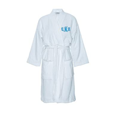Classy Bride Monogrammed Terry Cloth Kimono Robe - White at Amazon ... 55de3515f