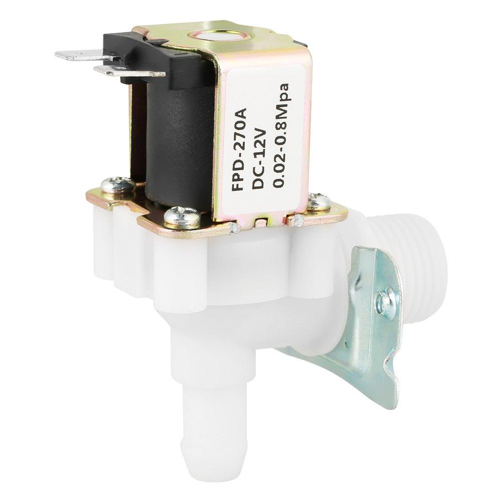 Válvula Solenoide, DC 12V Válvula Electromagnética de Entrada de Agua de Tipo N/C Normalmente Cerrada para Equipos Eléctricos, 0.02-0.8Mpa