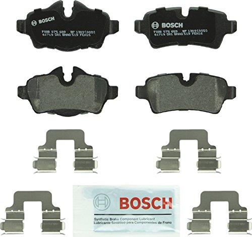 (Bosch BP1309 QuietCast Premium Semi-Metallic Disc Brake Pad Set For 2007-2015 Mini Cooper; Rear )