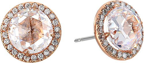 kate spade new york Bright Ideas Pave Halo Rose Gold Stud Earrings by Kate Spade New York