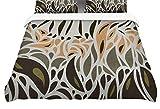 Kess InHouse Viviana Gonzalez Africa - Abstract Pattern II Gray Green Twin Cotton Duvet Cover, 68 by 88-Inch