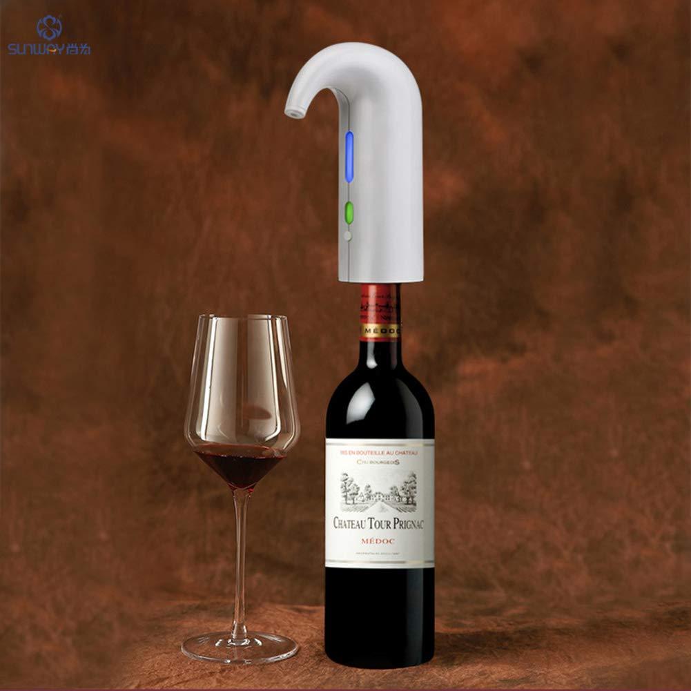 Aireador Y Dispensador De Vino Eléctrico - Funcionamiento Fácil - Operado Con Batería - Decantador Para Vino Tinto Y Blanco,White: Amazon.es: Hogar