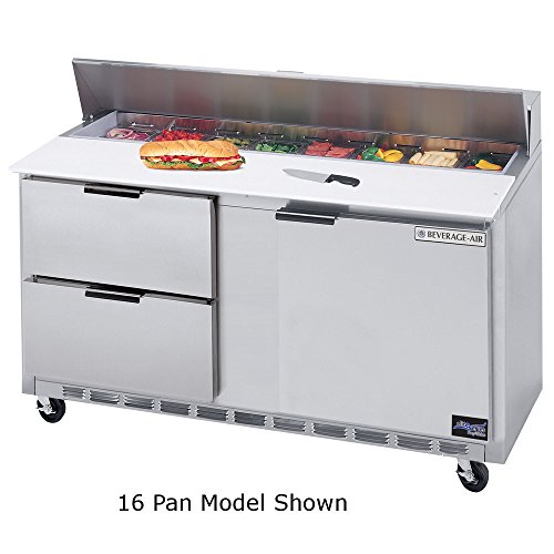 (Beverage Air SPED60-08C-2 60†Cutting Top Sandwich/Salad Prep Table w/ Drawers â€
