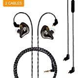 BASN Bsinger+PRO In-Ear Monitor, Dual Drivers Headphones (Earbuds/Earphones/Headset) with MMCX Detachable Cables, Noise-Isolating with Microphone and Remote