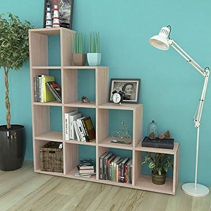 SKB Family Staircase Bookcase Display Shelf 559quot Oak New Organizer Bookshelf Furniture