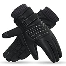 X-Prime Winter Warm Sports Outdoor Touchscreen Fashion Casual Cold Weather Gloves Men