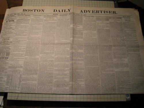 Newspaper Daily Advertiser (1877 Boston Daily Advertiser Newspaper - Boss Tweed Confession - Harvard Baseball Game)